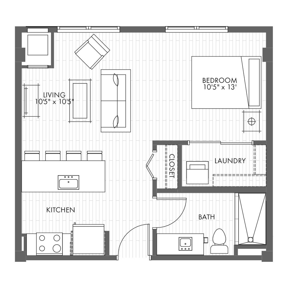 Studio Apartment Home Style 0a Vantage On The Park