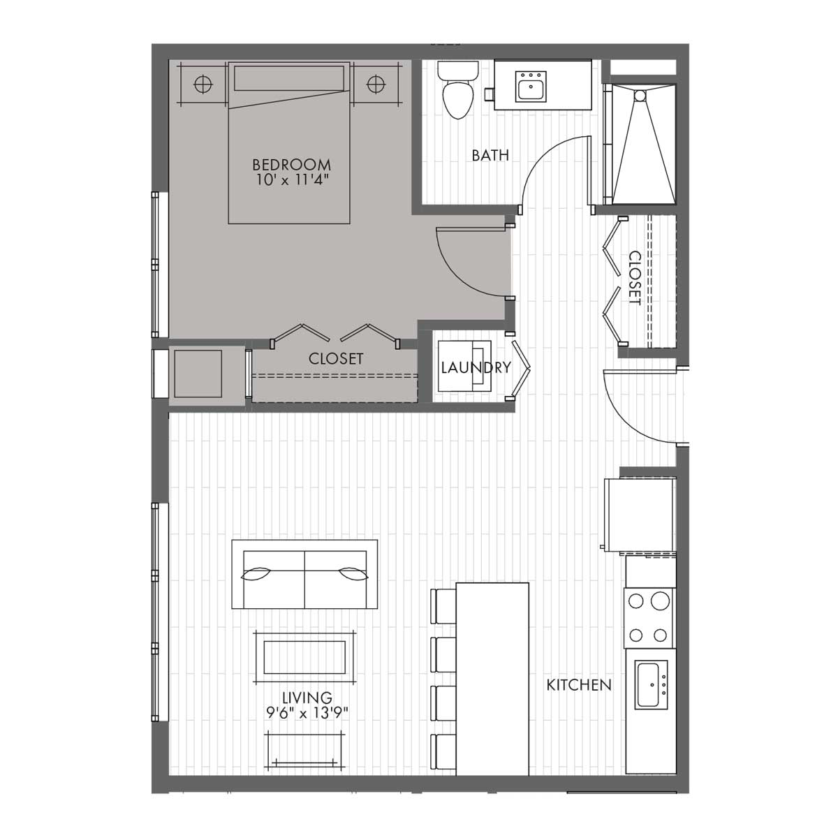 Penthouse One Bedroom - Style 1E