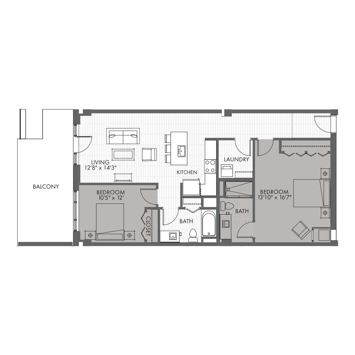 Townhome Two Bedroom - Style 2A