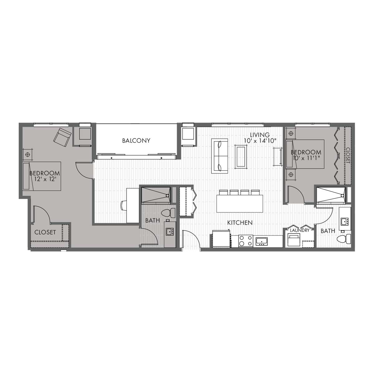 Penthouse Two Bedroom - Style 2B